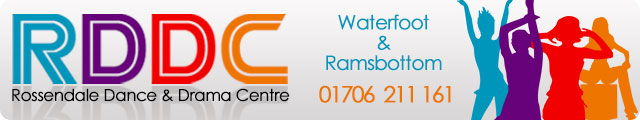 Advertising banner for Rossendale Dance and Drama Centre in Rossendale
