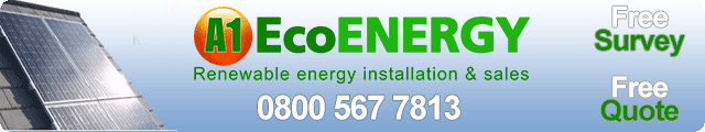 Advertising banner for A1 Eco Energy in Rossendale