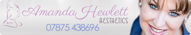 Advertising banner for Amanda Hewlett Aesthetics of Rossendale