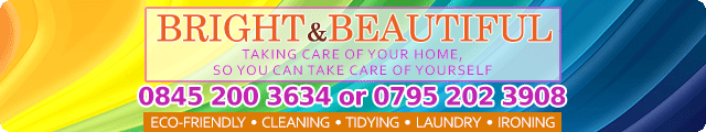 Advertising banner for Bright & Beautiful Cleaning Services