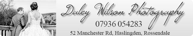 Advertising banner for Daley Wilson Photography in Rossendale