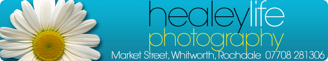 Advertising banner for Healey Life Photography in Rossendale