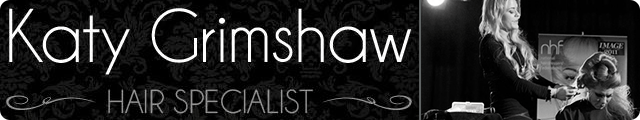 Advertising banner for Katy Grimshaw