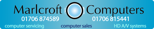 Advertising banner for Marlcroft Computers