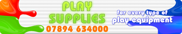 Advertising banner for Play Supplies in Rossendale