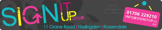 Advertising banner for Sign It Up in Rossendale